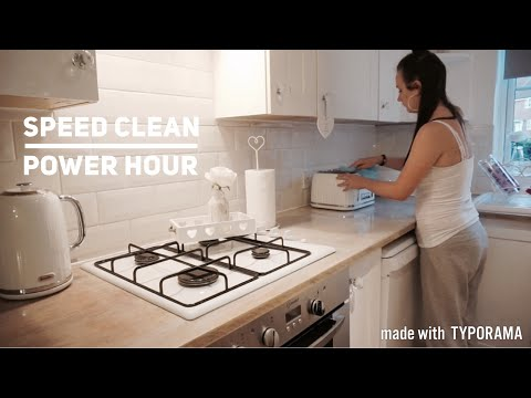 SPEED CLEAN | POWER HOUR | EVENING CLEANING ROUTINE | CARLY JADE DRAKE