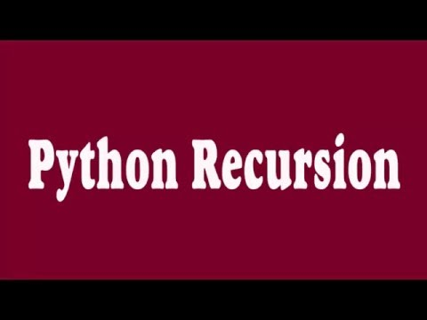 01 _ Python Recursion (Arabic)