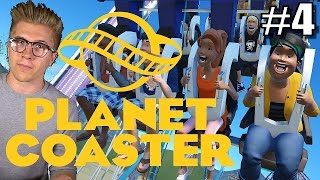 Planet Coaster Alpha 2 Gameplay | Roller Coaster Park Game | Part 4