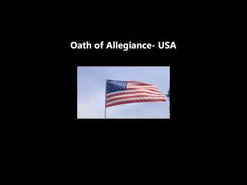 OATH of ALLEGIANCE USA read recite words lyrics citizenship immigration naturalization read along
