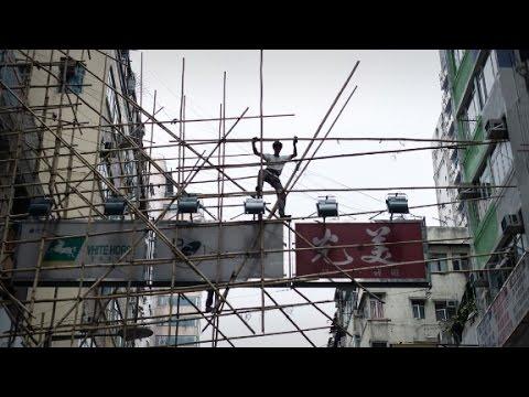Hong Kong's death defying bamboo scaffolding