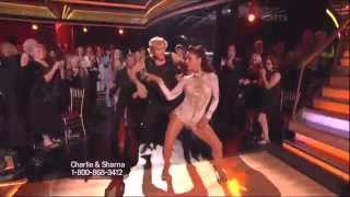 Sharna Burgess and Charlie White dancing Samba on DWTS 5 12 14