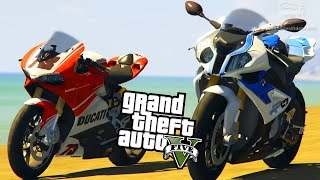 GTA 5 Motorcycle Mods #2 - Ducati 1199 Panigale, Yamaha R1 2014, BMW S1000 RR and More