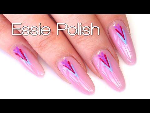 EASY Easter Spring Nail Art Tutorial with Essie Polish - DIY Nail Stickers thumbnail