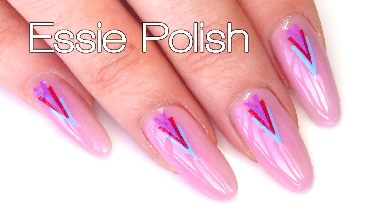 Easy Easter Spring Nail Art Tutorial With Essie Polish Diy Nail