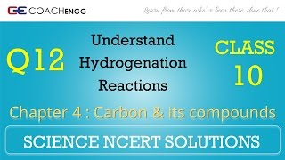 Carbon and its compounds Question 12 Chapter 4 Class 10 NCERT Solutions Exercise