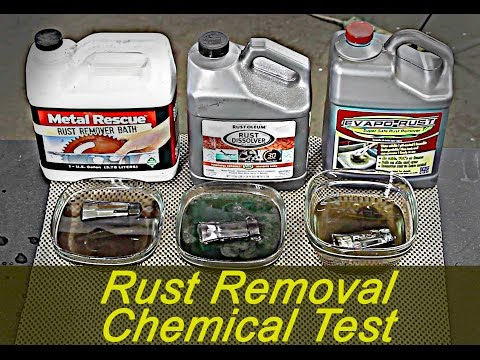 How to remove rust with chemistry