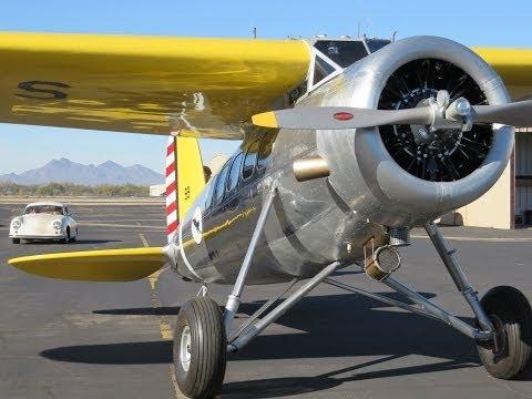 Rare 1933 Lockheed Vega, first flight post restoration.