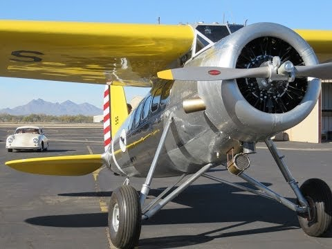 Rare 1933 Lockheed Vega, first flight post restoration.