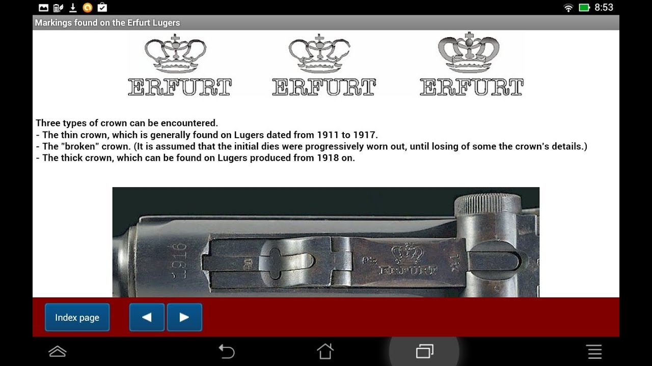 The various producers of Luger pistols - Android APP - HLebooks com