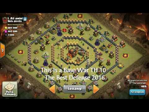 Base Coc Th 10 Terkuat Untuk War 4