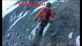 Mont Blanc 4810m 06.08.2016 with Grand Couloir - windy