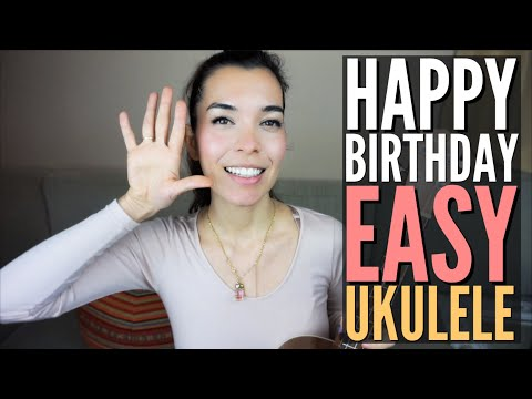HOW TO play Happy Birthday on Ukulele | EASY Tutorial (3 Chords)