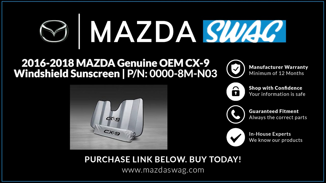 2016 2017 2018 2019 2020 Mazda Cx9 WIndshield sunscreen oem new