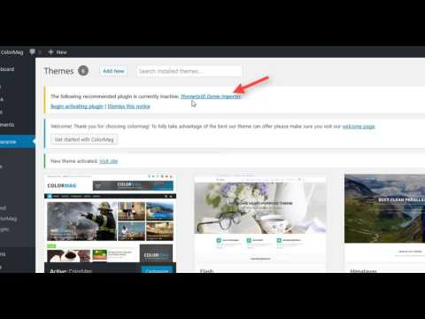 how-to-import-demo-content-for-free-wordpress-themes-from-themegrill