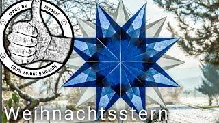 DIY Weihnacht Advent Stern aus Transparentpapier basteln Weihnachtsdeko