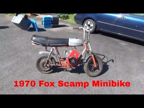 1970 Fox Scamp Minibike, barn find, basket case, flea market deal,