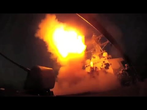 VIDEO US Attacks Syria - Navy Destroyer Launches Missile Strikes WW3