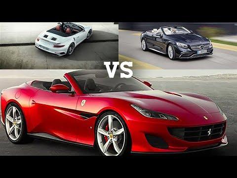 Porsche 911 cabrio vs. Mercedes Classe S 63 AMG vs. Ferrari Portofino | Che classe!