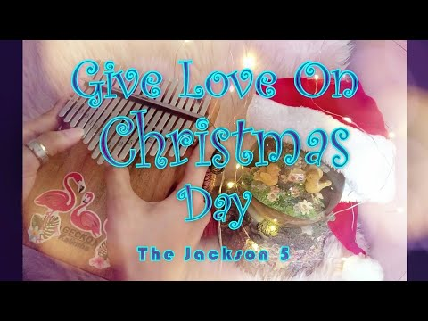 Give Love On Christmas Day - The Jackson 5 | Kalimba Cover with Easy Tabs and Lyrics - YouTube