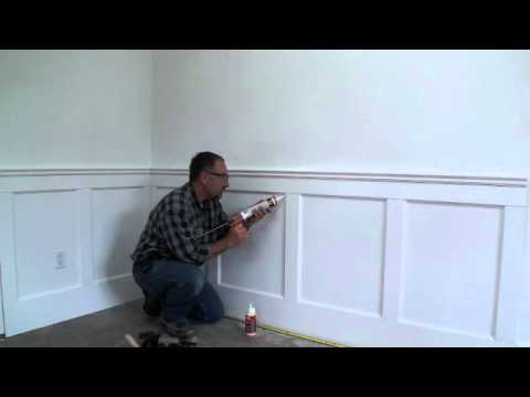 Wall Paneled Wainscoting Kit Installation Step 11 Latex