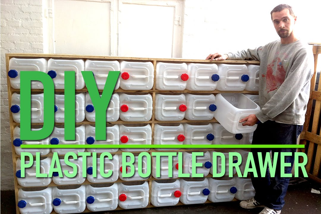 Upcycled Plastic Bottle Drawer Storage System Youtube