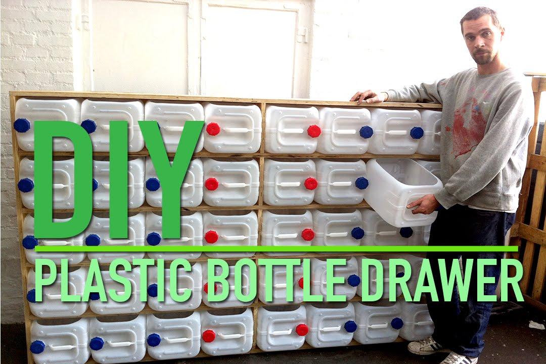 Upcycled plastic bottle drawer storage system  YouTube