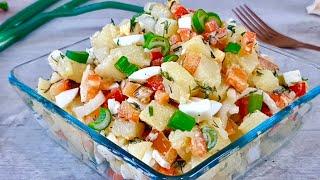 Турецкий КАРТОФЕЛЬНЫЙ САЛАТ. Приготовьте на обед - На мой вкус он прекрасен! Рецепты от MarMari