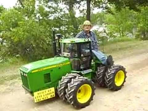 Miniature John Deere 8970 4 Wheel Drive Tractor Youtube