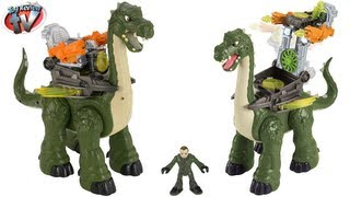 Imaginext Dinosaurs Mega Apatosaurus Jurassic Toy Review Unboxing Fisher-price Toys