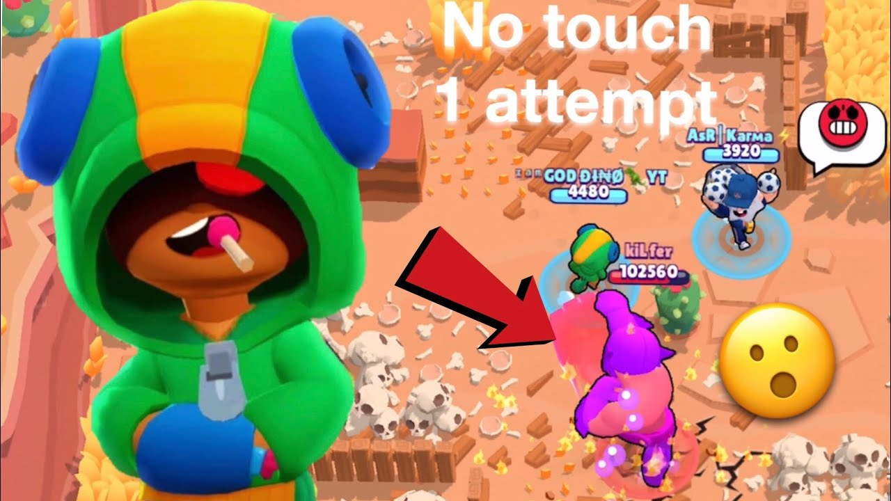 Brawl Stars Challenge: I can't get hit by big boss while being hunter in BG - 1 Attempt only!