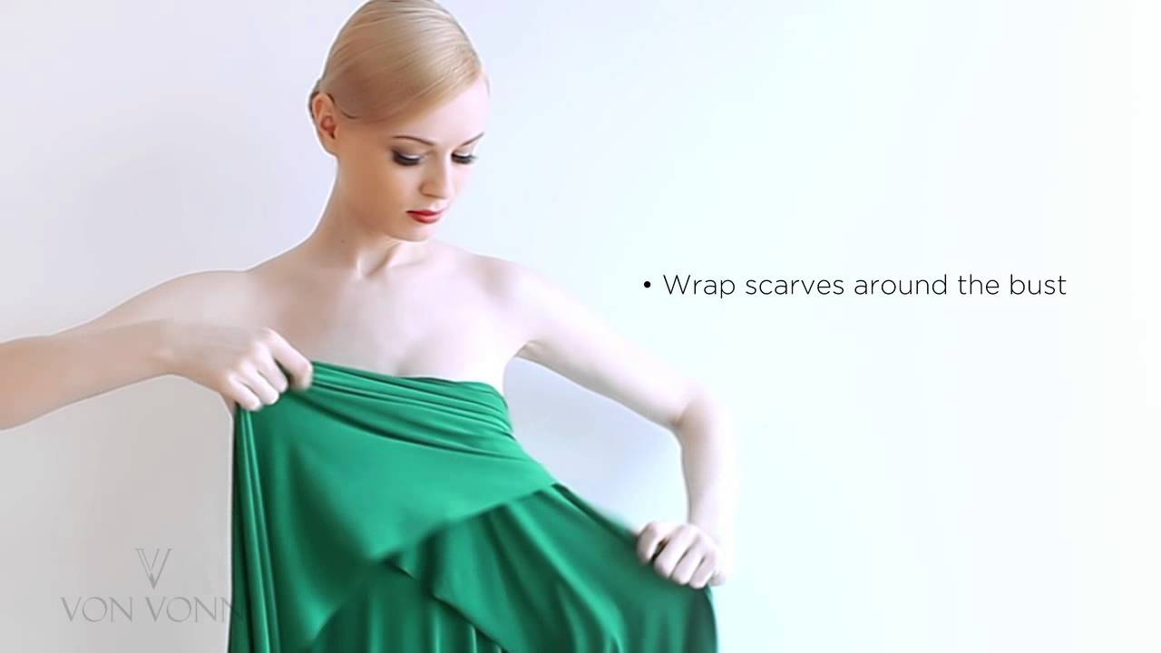 Molto How to tie the Von Vonni Transformer Dress - Strapless Style - YouTube TK87