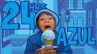 24 HORAS COMIENDO AZUL