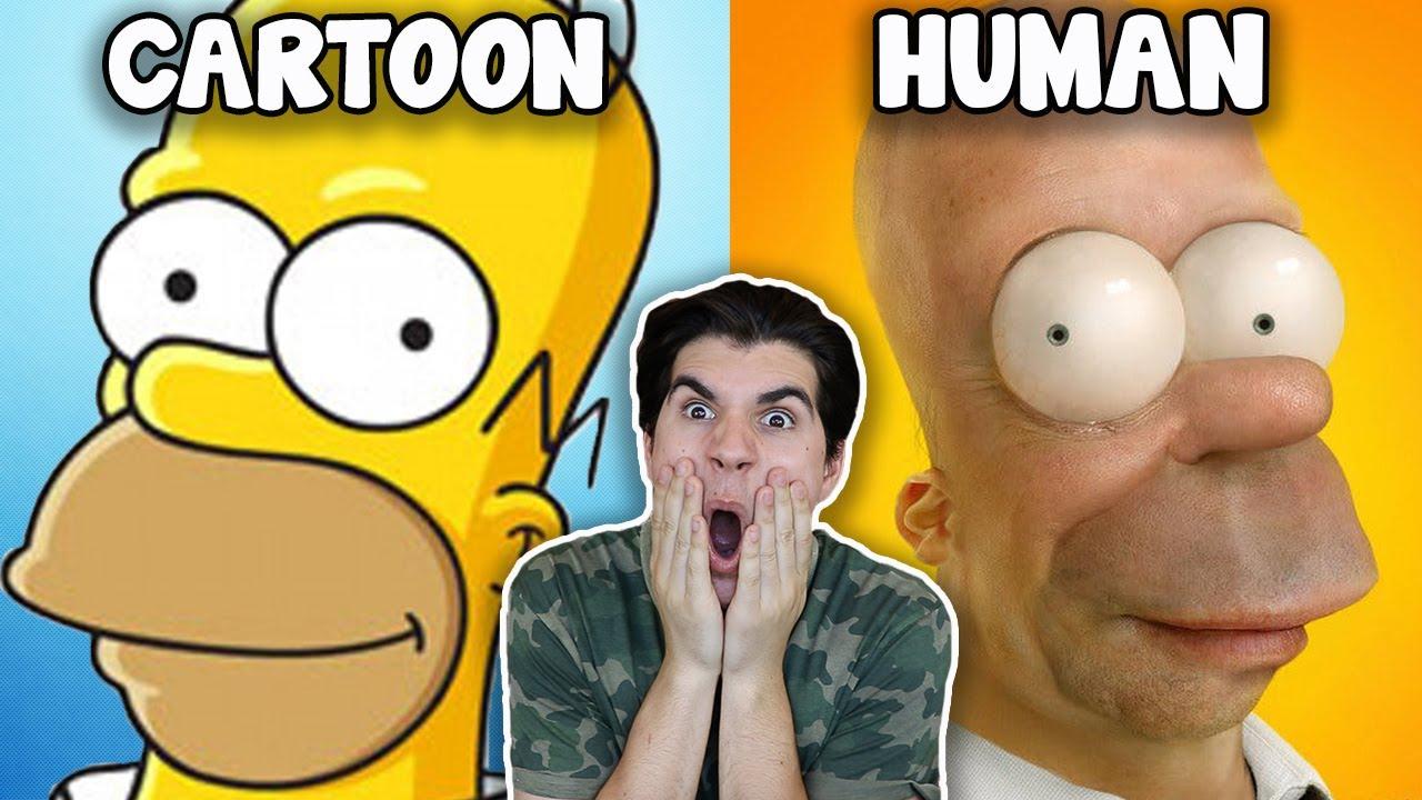 cartoons-as-humans