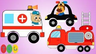 Xe Cứu Hỏa, Xe Cảnh Sát, Xe Cứu Thương - Fire Truck - Police Car - Ambulance| TopKidsGames (TKG) 361