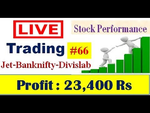 live Trading #66.Intraday Trading  :Banknifty & Jet , Profit : 23,400 Rs