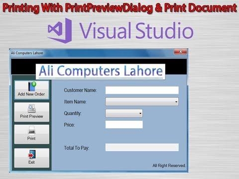 2 2 C# Printing with PrintPrivewDialog & PrintDocument Controls In Urdu