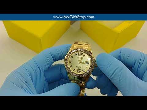 Invicta 21397 Pro Diver Yellow Steel Bracelet Crystal Women's Watch Video