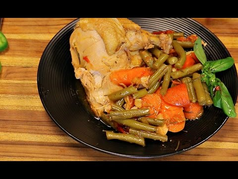 Dutch Oven Chicken And Vegetables - Chicken Recipe - Dutch Oven Cooking Recipe - Easy Recipes -