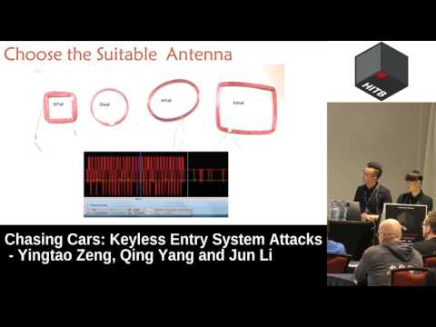 #HITB2017AMS D2T2 - Chasing Cars: Keyless Entry System Attacks - Yingtao Zeng, Qing Yang and Jun Li