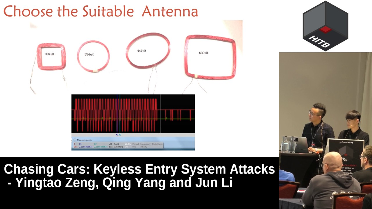 Chasing Cars: Keyless Entry System Attacks « HITBSecConf2017