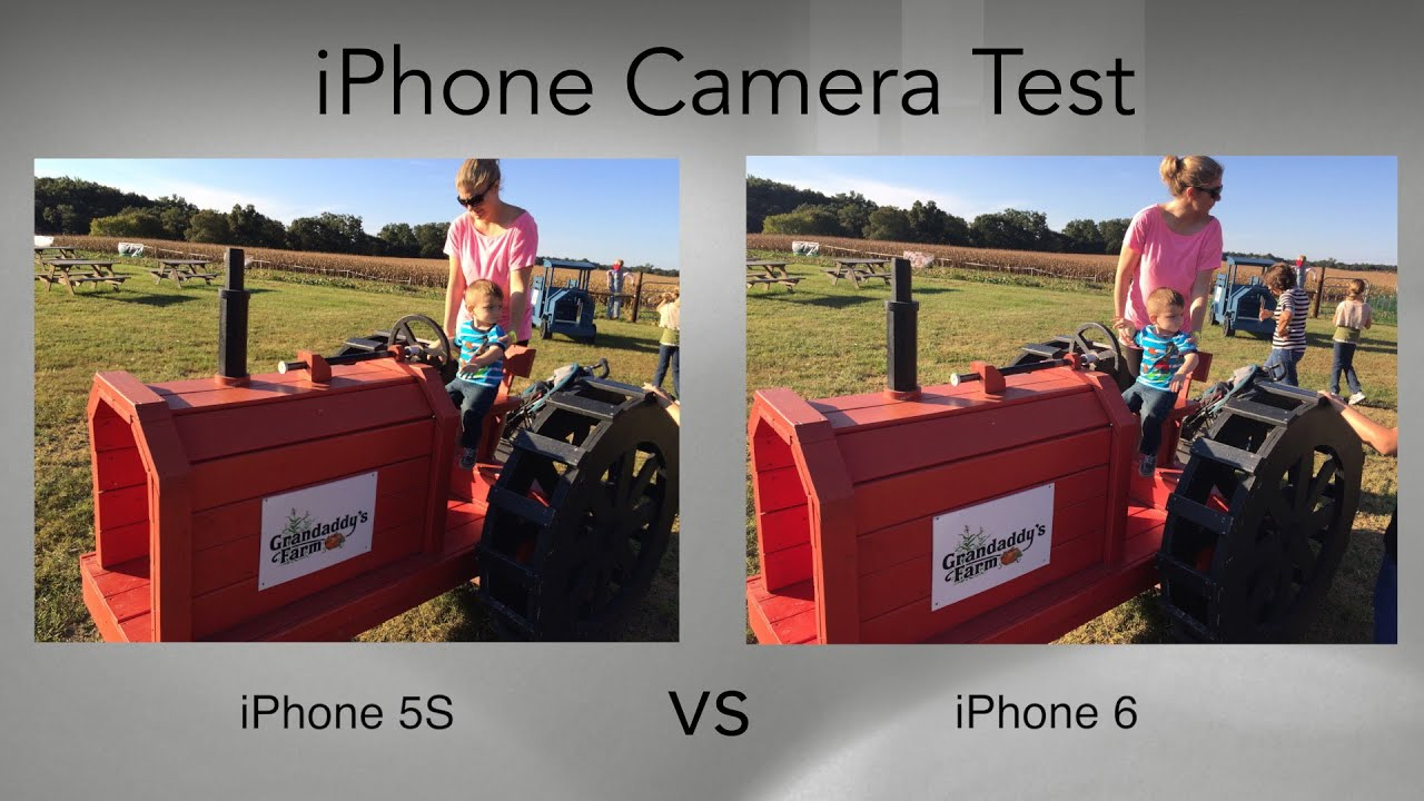 QUALITÉ PHOTO IPHONE 5S VS 6