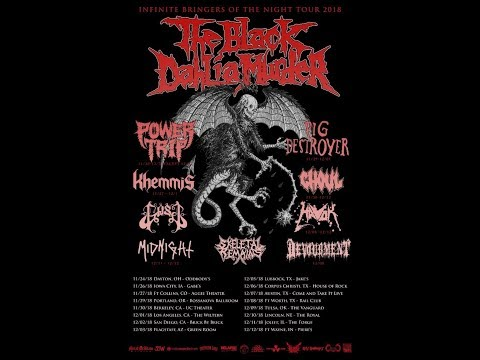 The Black Dahlia Murder tour w/ Power Trip, Pig Destroyer, Khemmis, Havok and more..!