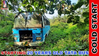 Cold Starting 2000 Model Tata 407 Bus Dumped in a Forest | Yathra Today