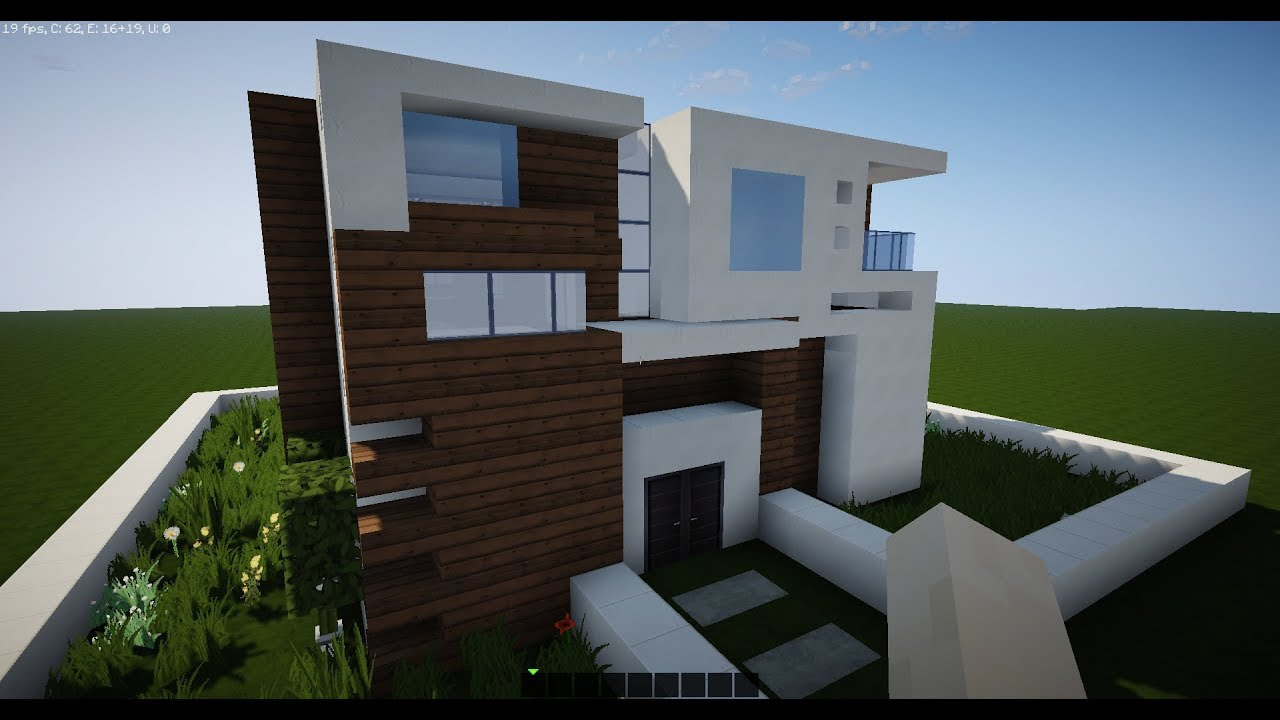 Minecraft Best Modern House By Me From Inside Outside Everything