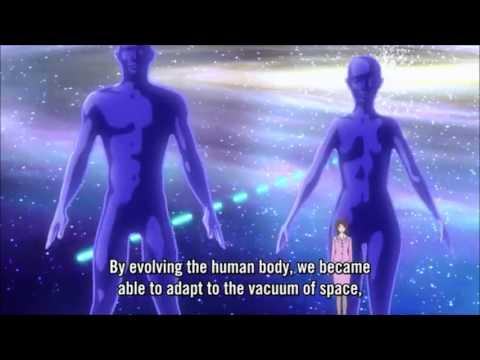 Gargantia episode 8 scene: Earth's past revealed (SPOILER)
