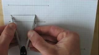 Построение треугольника по трём сторонам - быстрое повторение.