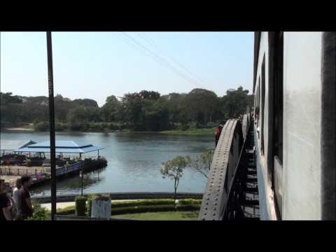 A train crosses the Bridge on the River Kwai