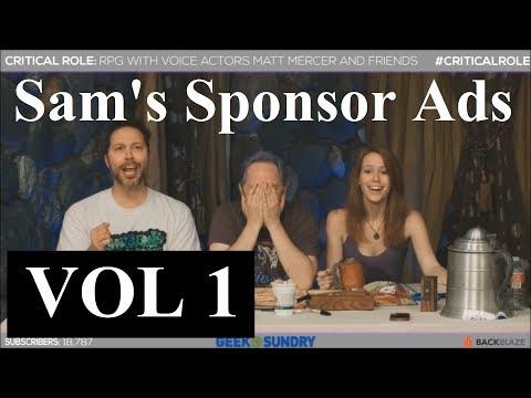 Sam's Sponsor Ads VOL1 Critical Role