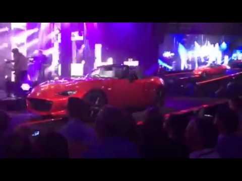 2016 Mazda Miata MX 5 Debuts with Duran Duran backup live event video